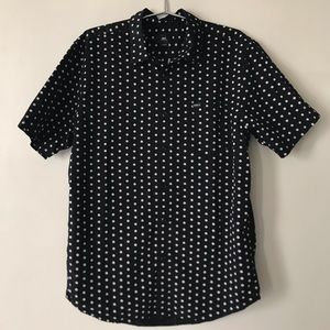 OBEY white daisy button up shirt